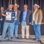 Clint Goff receiving the general aviation airport manager of the year at the 2015 Texas Aviation Conference