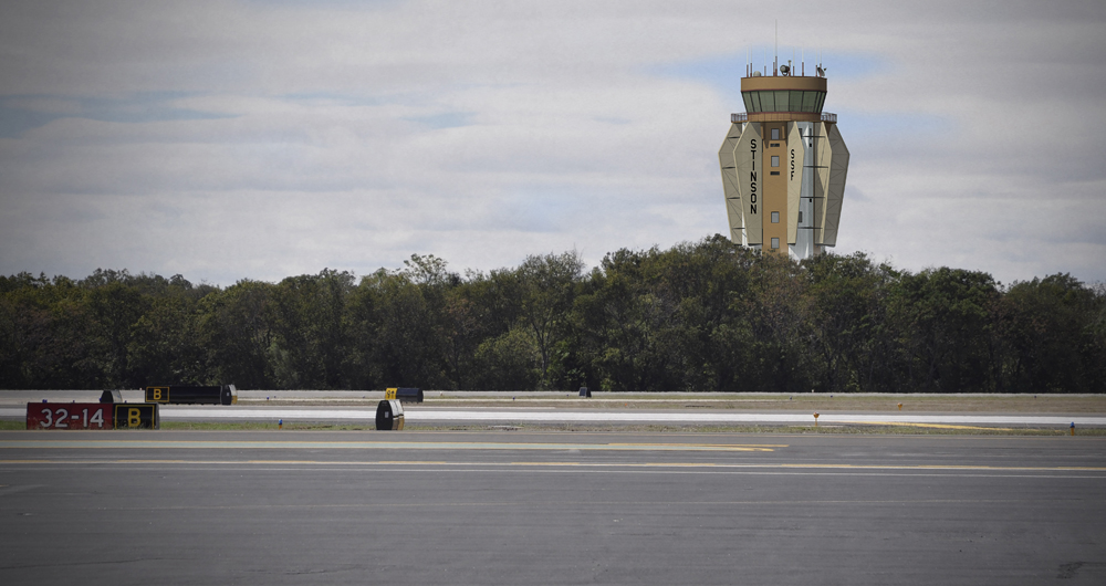 Conceptual drawing of the new air traffic control tower at Stinson Airport.
